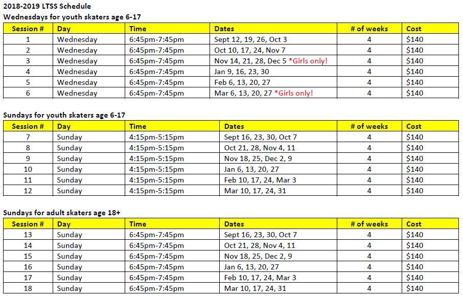 LTSS schedule August 28-1